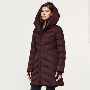Soia and Kyo • mid length down winter coat merlot